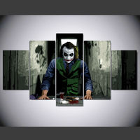 HD Printed Joker Movie Art 5 Piece Canvas Painting Star Wars Wall Pictures Decorate Children Kids
