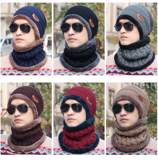 3d7ba4d774 US $4.2 |Cold Weather Knitt Cap Winter Wool Fleece Neck Warmer Scarf Face  Mask Earmuffs Snowboard Hats Beanie Balaclava Men-in Skullies & Beanies  from ...