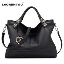 Laorentou luxus echtem leder europäischen handtaschen kuh leder frauen handtaschen aus echtem damen echte lederne beutel n52