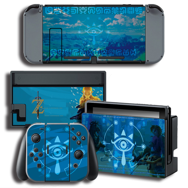 Vinyl Cover Decal Skin Sticker for ghosts skins Stickers for Nintendo Switch NS Console + Controller + Stand Holder Protective F 2
