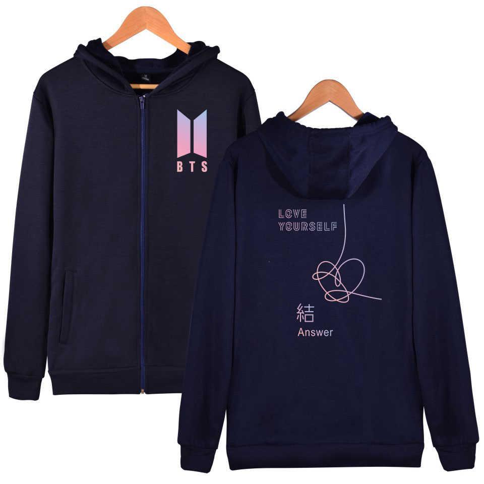 a1d9bc6f ... Casual Hoodies Women Winter Hot Love Yourself Answer Zipper Hoodies  Sweatshirts Fashion Kpop Plus Size Jacket ...
