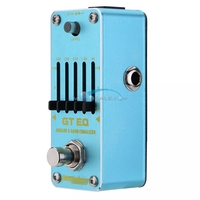 Aroma AEG 3 GT EQAnalogue 5 Band Equalizer Guitar Effect Pedal Mini Volume True Bypass Volume Guitar Parts Guitar Accessories