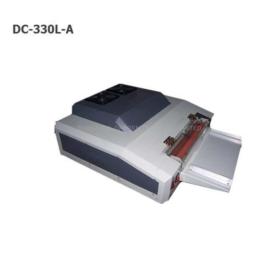 330mm UV revêtement machine, UV vernis coucheuse machine DC-330LA UV machine de revêtement liquide, photo stratification revêtement machine