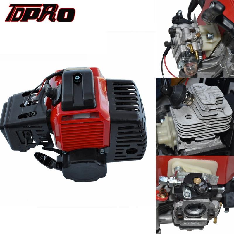 TDPRO démarrage par traction 43 47 49cc 2 temps moteur démarreur moteur pour Mini Moto poche ATV Quad Buggy Dirt Pit vélo Scooter à gaz