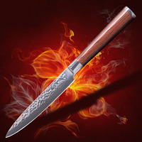 High Quality 5 Inch Utility Chef Knives Imitation Damascus Steel Santoku Kitchen Knives Sharp Cleaver Slicing