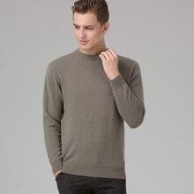ผู้ชายฤดูหนาวจัมเปอร์ 100% แคชเมียร์และผ้าขนสัตว์ถักเสื้อกันหนาวคอยาวแขนยาว Pullovers ชาย 2016 เสื้อใหม่ขนาดใหญ่เสื้อผ้า