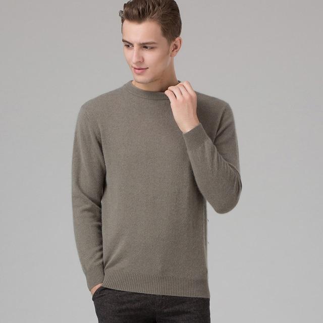 חורף גברים Jumper 100% קשמיר וצמר סרוג סוודר O-צוואר ארוך שרוול סוודרי זכר 2016 חדש סוודרים גדול גודל בגדים