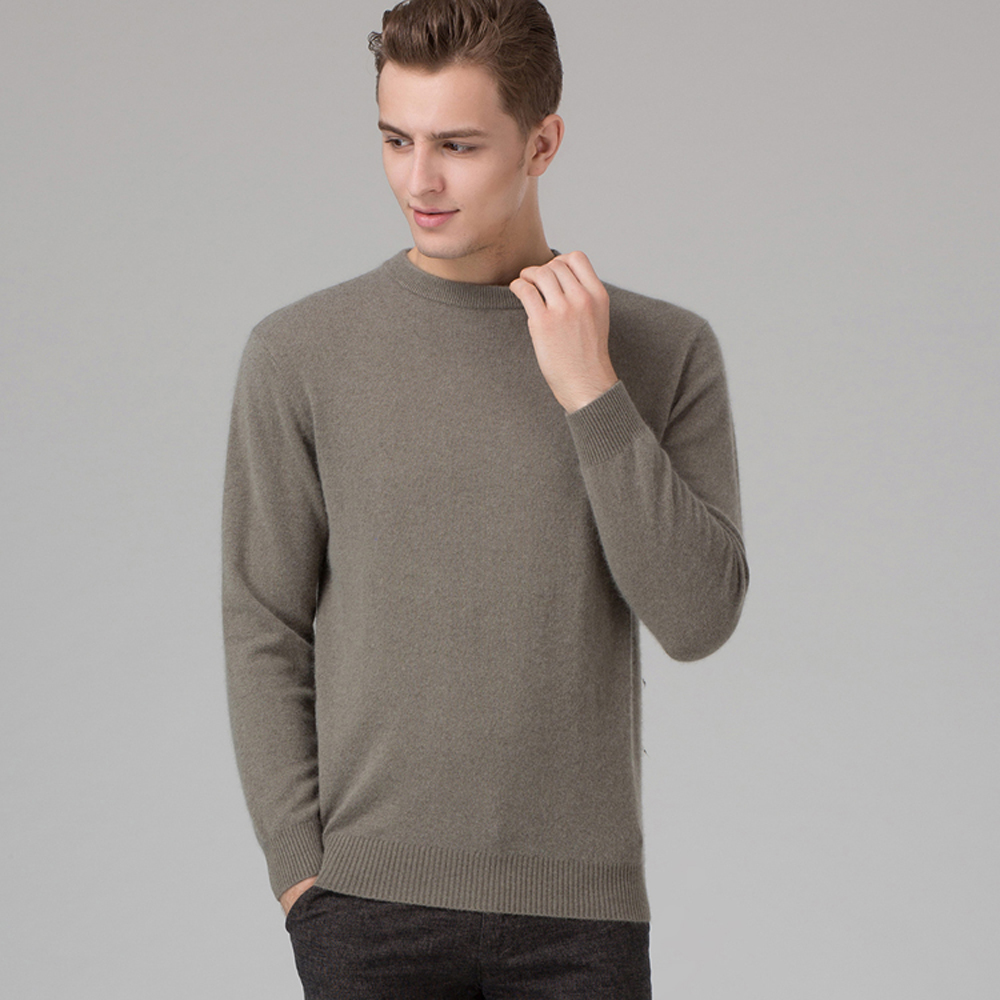 Winter Men Jumper 100% Cashmere And Wool Knitted Sweater O-neck Long Sleeve Pullovers Male 2016 New Sweaters Big Size Clothes