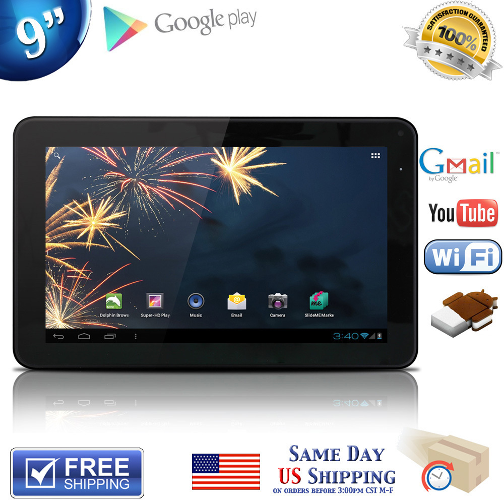 Free Shipping BoDa 9inch Android 4.0 Allwinner A13 Cortex A8 512MB 8GB Capacitive Screen Tablet PC Dual Camera