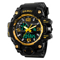 2016  Big Dial Men's Digital Watch S SHOCK Military Clock Men Watch Water Resistant Date Calendar LED Sports Watches Men