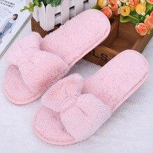 Slippers Women Zapatos Mujer Slip on Sliders Fluffy Faux Fur Flat New Soft Female Casual Slipper Flip Flops Winter Shoes