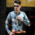 Primavera/Outono de Manga Comprida Camisas Dos Homens de Estilo Britânico do Sexo Masculino de Veludo Homens Luva Cheia Camisa Homem Vestido Formal Fino Camisa Masculina