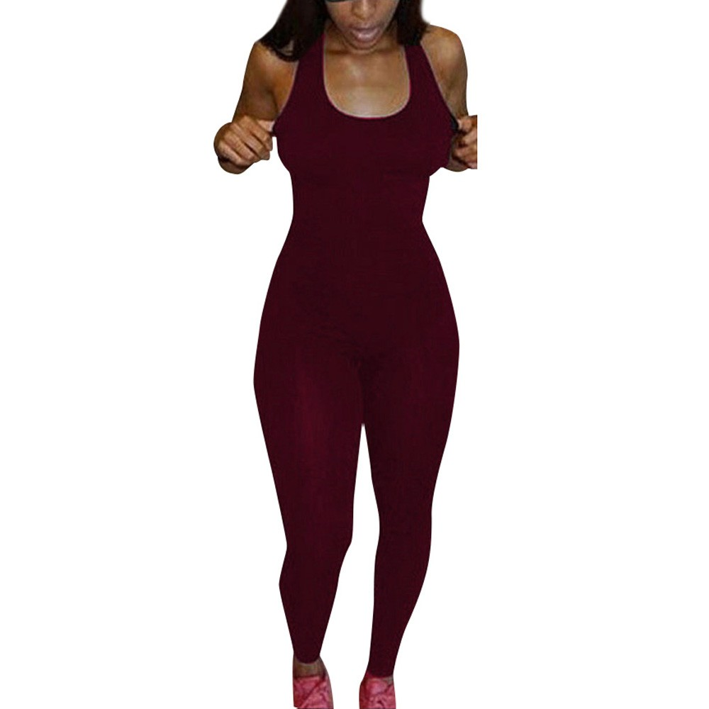 Jumpsuit Women Black Red 2019 Jumpsuits Casual Sleeveless Bodycon Romper Jumpsuit Club Bodysuit Long Pants Combinaison  -30 6.3