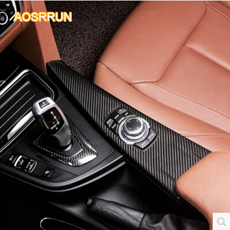 AOSRRUN carbon fiber air-conditioning outlet Interior trim The door armrests cover Car Accessories FOR BMW F15 F3