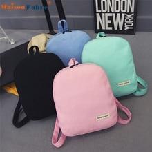High quality Girl Canvas School Bag Travel Cute Backpack Satchel Women Shoulder Rucksack