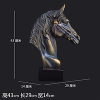 wedding decoration crafts handmade Horse head European Equestrian Horse crafts ornaments Home Furnishing office library