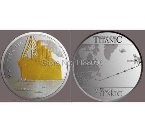 na zakázku R.M.S TITANIC hotový do 24k ZLATÝCH mincí levné vlastní jemné stříbrné mince lodní medaile mince nové populární obě boční mince