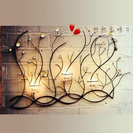 Iron Candlestick ornaments boutique sofa background decorative ...