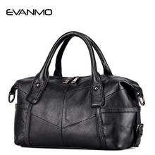 High-end Real Boston Polyester Soft Women Genuine Leather Handbag Design Crossbody Bag Classic European & American Style Totes E