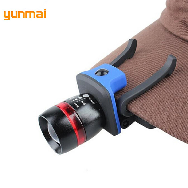 Yunmai Light XPE Cap Headlamp LED Waterproof Riding Headlight Zoom 3 Modes Tactical Waist Lamp Camping Lantern Zoom Head Torch