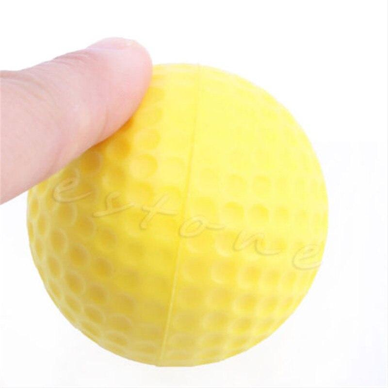 屋外 1 個黄色の泡ゴルフボールゴルフトレーニングソフトフォームボール練習ボール -