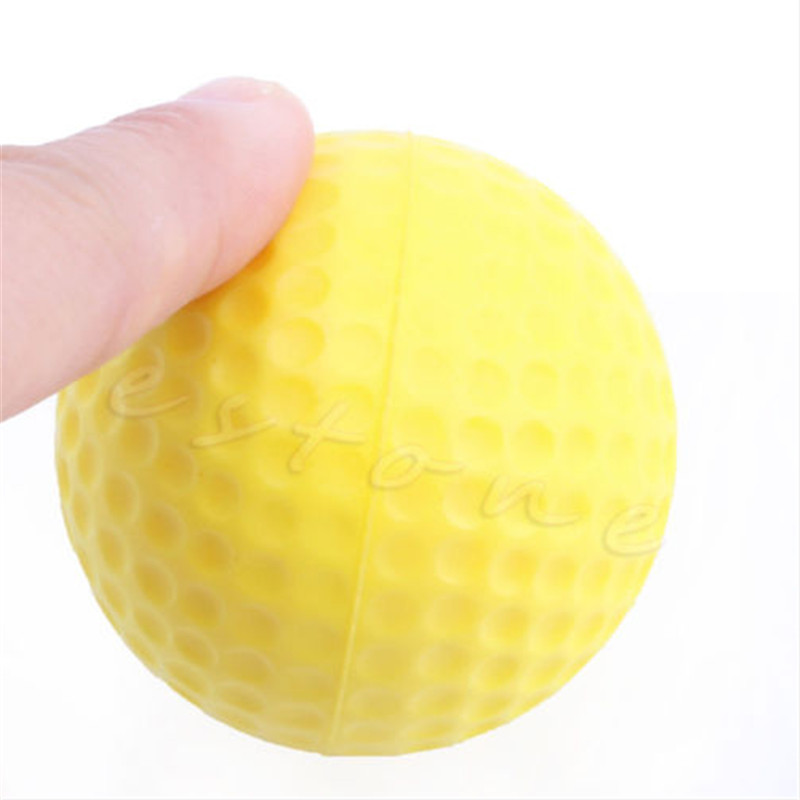 Outdoor 1pcs Yellow Foam Golf Ball Golf Training Soft Foam Balls Practice Ball