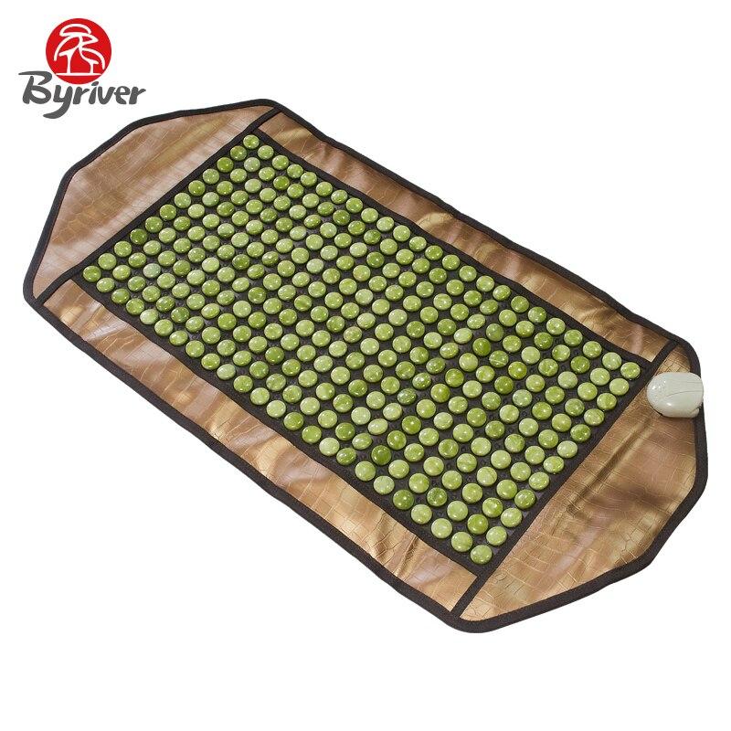 BYRIVER Far Infrared Heating Jade Tourmaline Germanium Massage Mattress Ceramic Matt 2016 jade tourmaline electric heating massage mattress with far infrared high quality products directly from factory 1 2x1 9m