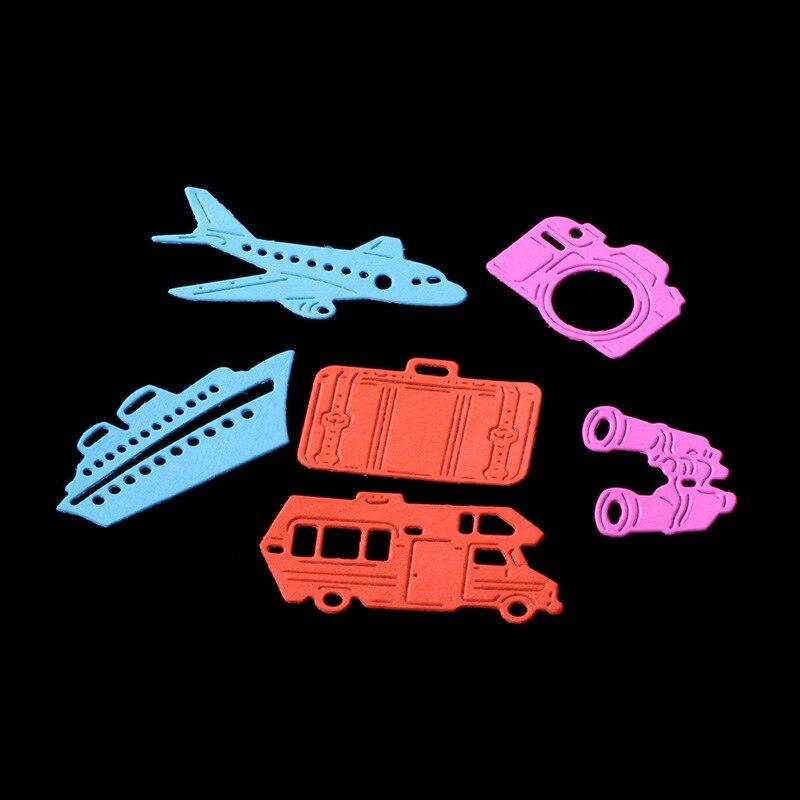 Резка металла умирает самолета Лодка чемодан камеры записки бумаги ремесло карты Альбом подарок лента Настоящее нож форму art резак