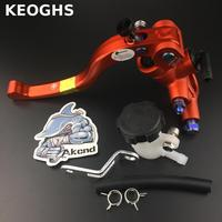 KEOGHS Universal Adjustable Motorcycle Brake Clutch Levers Master Cylinder Reservoir Set For Honda Suzuki Kawasaki Yamaha
