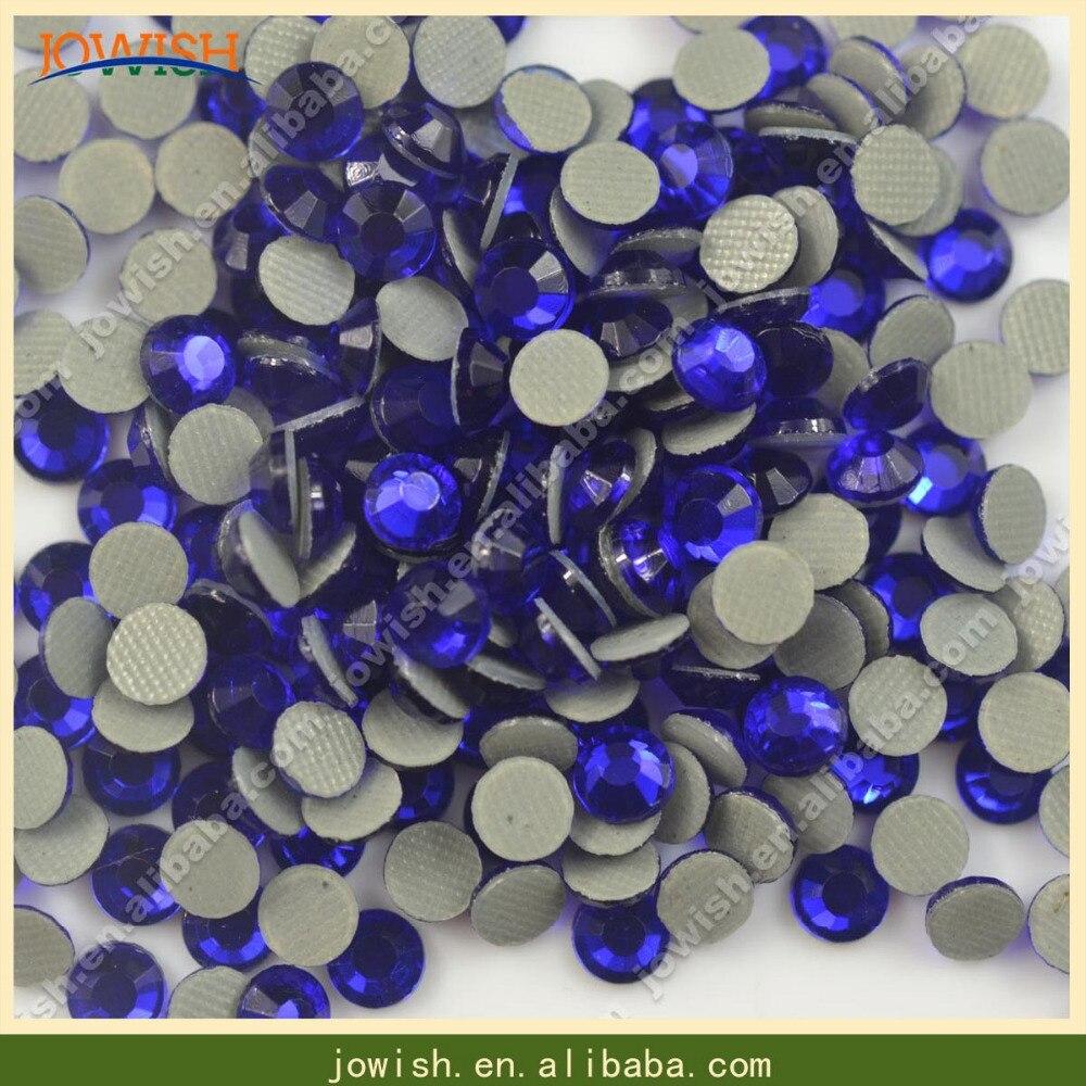 Wholesale 200 gross   bag SS16 Korean Cobalt Crystals Stones Iron FlatBack Hot  Fix Strass Crystal Hotfix Rhinestone for Clothes-in Rhinestones from Home  ... b19bda3dcbaf