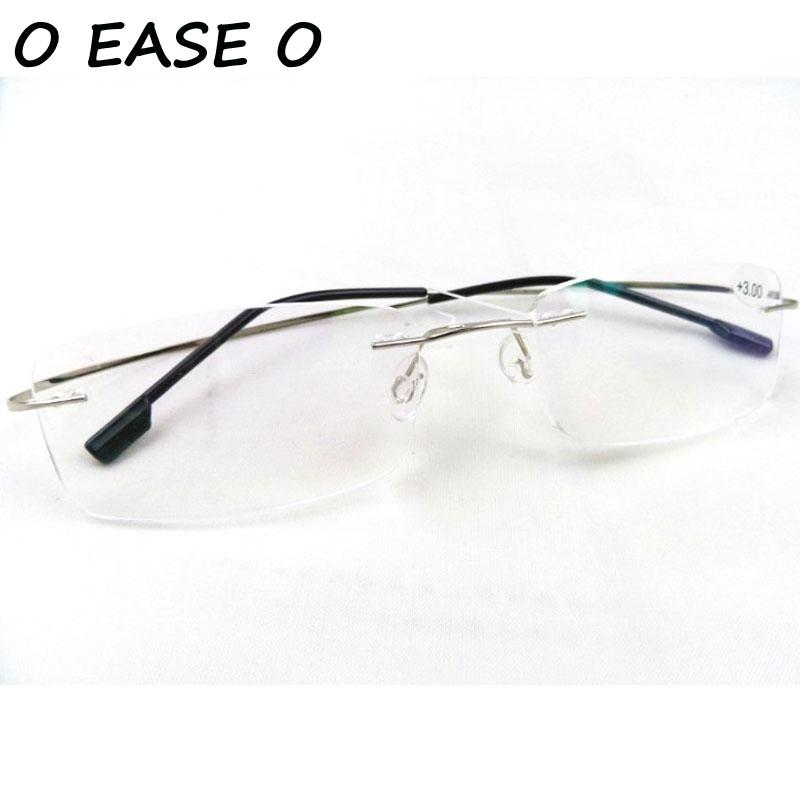 7c07032e237c6 O FACILIDADE O Presbiopia óculos unisex óculos de leitura sem aro de  titânio memória flexível + 1.00 + 1.50 + 2.00 + 2.50 + 3.00 + 3.50 + 4.00  em Óculos de ...