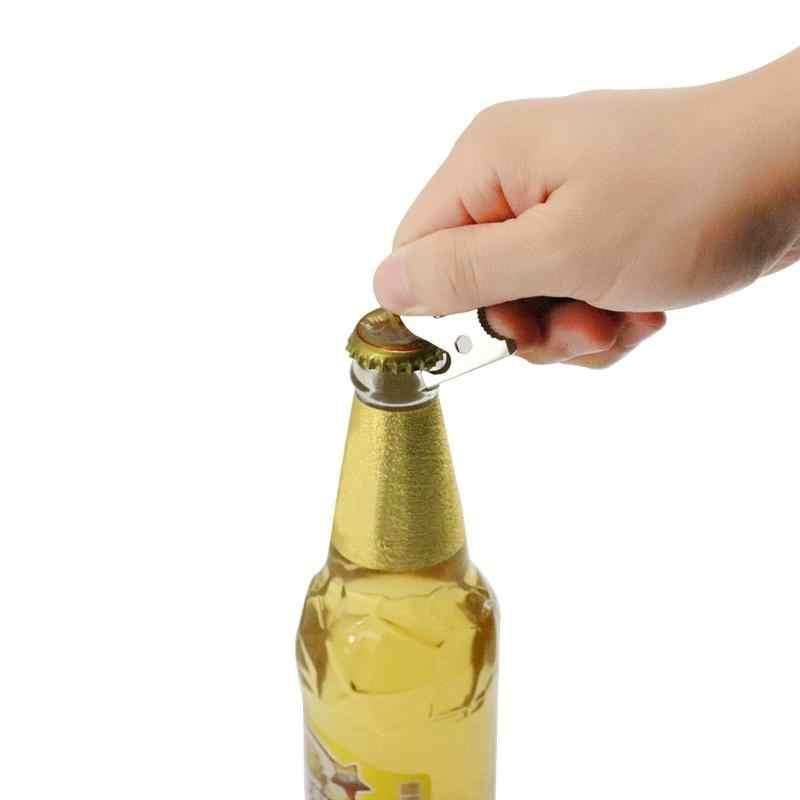 Acier inoxydable silex lames ouvre-bouteille Mini bière ouvre-bouteille bière Bar outil multifonction cuisine outils dissolvant