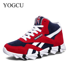 YOGCU Men Winter Running Krasovki Men Running Shoes For Men Spring Sneakers Shoes Sports Shoes Buty Sportowe With Fur For Sport