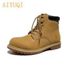 AIYUQI 2019 autumn new genuine leather Martin boots women flat tooling womens British wind non-slip
