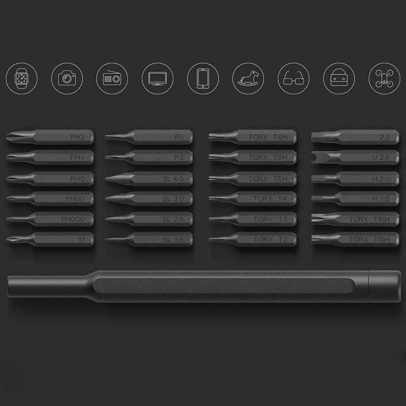 Mijia Wiha Screwdriver Kit 24 in 1 Precision Magnetic Bits Aluminum Box Wiha DIY Screw Driver Set