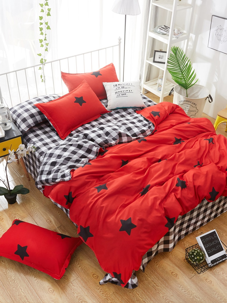 3/4 Pcs Duvet Covers Modern Simple Style Soft Bed Sheet Set 3/4 Pcs Duvet Covers Modern Simple Style Soft Bed Sheet Set