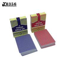 K8356 2 Sets / Lot Letras Pequeñas Texas Hold'em Plastic Playing Cards Juegos de Mesa de Pizarra Frosting Impermeable 2.48 * 3.46 inch