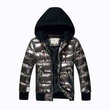 Зимнее пальто для мальчиков, парка, хлопковая стеганая куртка для больших детей, теплая пуховая куртка с бронзовым капюшоном, утепленная водонепроницаемая верхняя одежда для подростков
