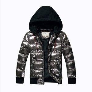 Image 1 - Зимнее пальто для мальчиков, парка, хлопковая стеганая куртка для больших детей, теплая пуховая куртка с бронзовым капюшоном, утепленная водонепроницаемая верхняя одежда для подростков