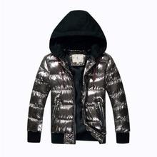7 16Y เด็กชายฤดูหนาว Coat Parka ผ้าฝ้าย wadded แจ็คเก็ตบิ๊กเด็ก Bronzing Hooded ลงเสื้อวัยรุ่น Thicken เสื้อกันหนาวกันน้ำ