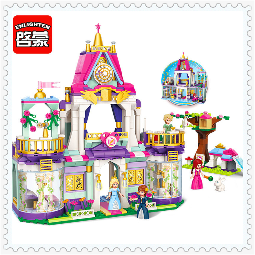 626Pcs Girl Friends Princess Royal Winston College Building Block Toys ENLIGHTEN 2611 Figure Gift For Children Compatible Legoe princess ponies 6 best friends for ever