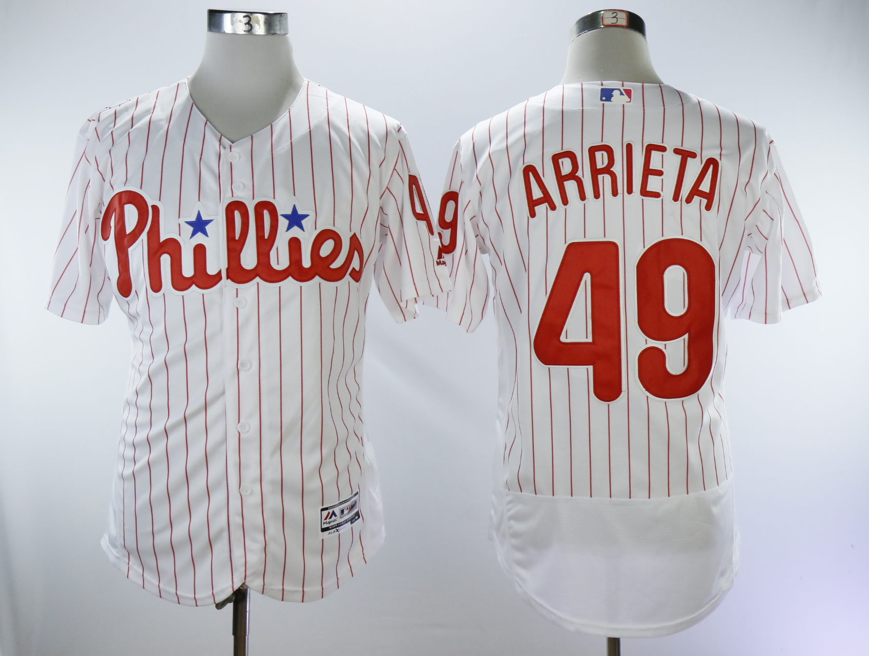 MLB Free shipping Mens Philadelphia Phillies Jake Arrieta Baseball Flex Base Jersey