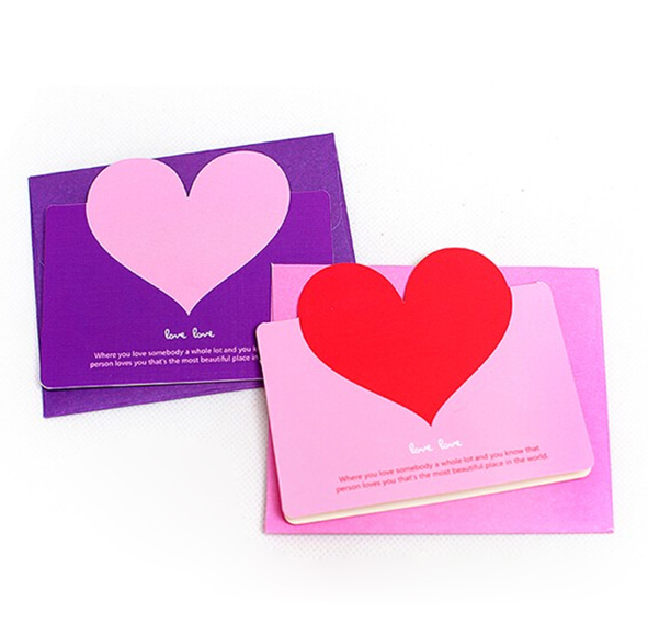 Mini Heart Postcards Greeting Card Decoration Happy Anniversary