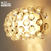 Simple modern Acrylic ion wall lamp Crystal Bead wall lights for bedroom Zeus Sweat Caboche sconces clear / amber