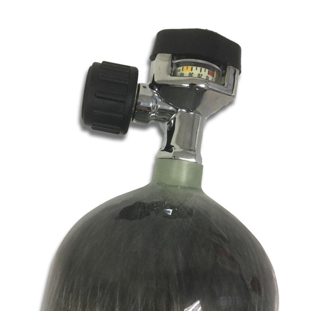 Купить-Прямая-от-Китай Детская Безопасность Датчик Клапан прилагается 6.8L 4500Psi ада углеродного Волокно цилиндр PCP Air винтовка /дайвинг танк