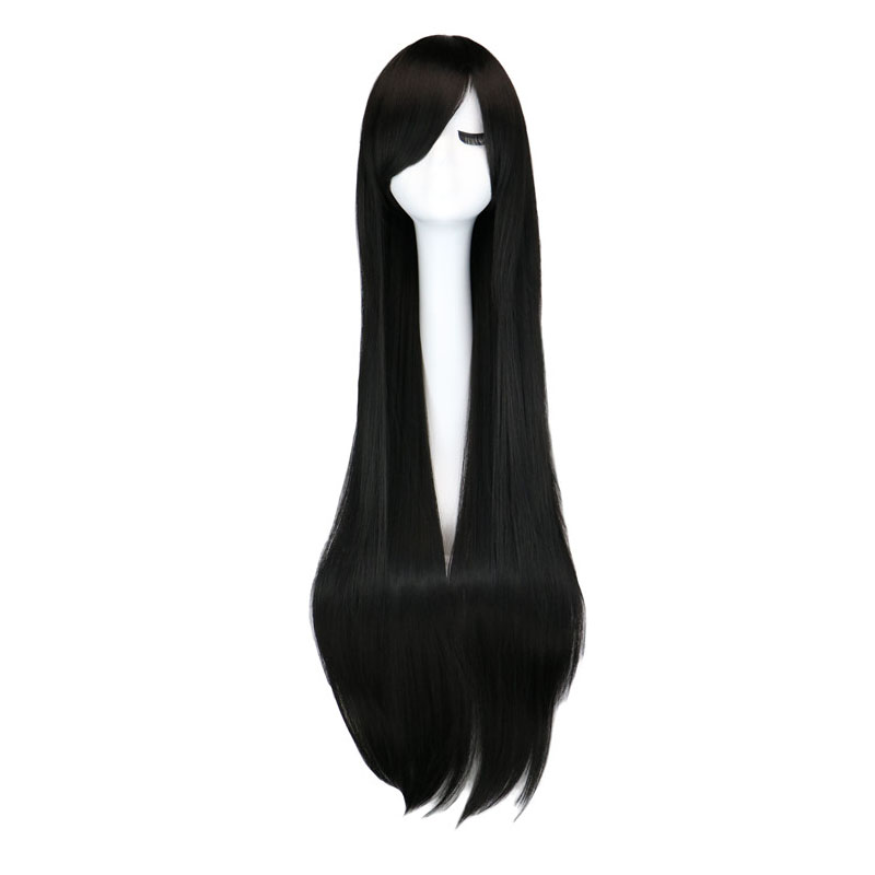 QQXCAIW Long Straight Party Cosplay Black 40