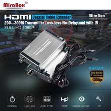 MiraBox HDMI IR Extender 1080P 200M Lossless Non-Delay HDMI Over Single RG59/RG-6U Coax Cable For Home Theater HDMI Over Coaxial