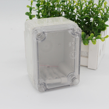Waterproof  IP66 Electronic Plastic Enclosure ABS PC Clear Cover box use as junction for project 80*110*70mm DS-AT-0811