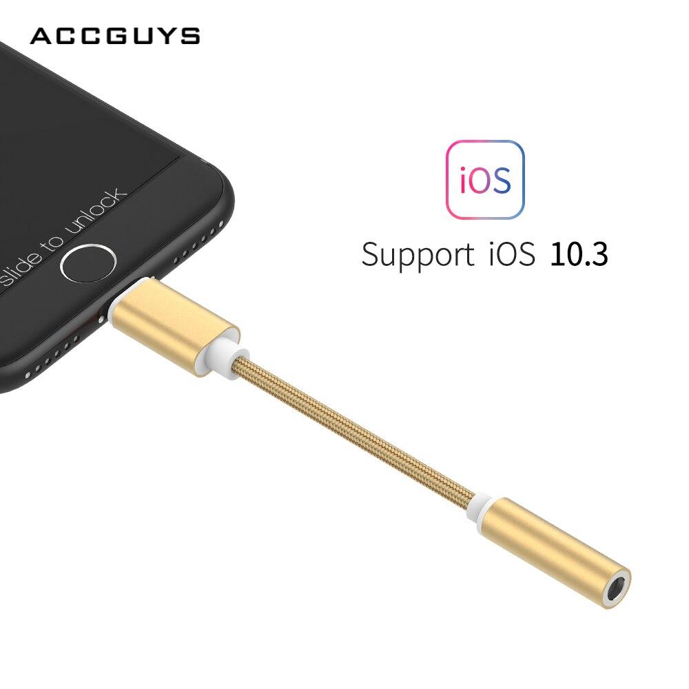 ACCGUYS 3,5 MM Kopfhörer audio kabel adapter Für Beleuchtung 3,5 MM Jack Stereo Audio Converter Für iPhone7/7 Plus/X