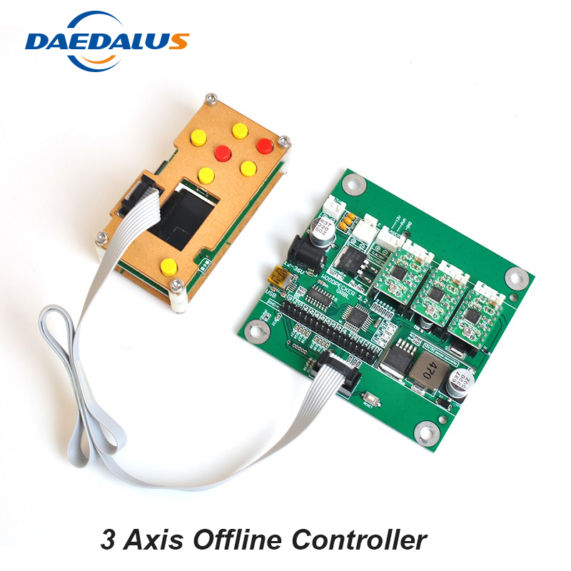 CNC GRBL Control Offline Controller 3 Axis USB Control Board Screen Controller For DIY Laser Engraver 3018 Machine Wood Router